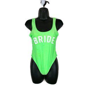 boohoo Green Bride Squad One Piece Size:8 NWT